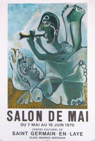 Lithograph Picasso - '' Salon de Mai ''