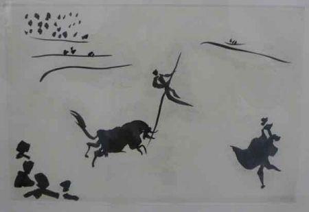 Aquatint Picasso - SALTO A LA GARROCHA