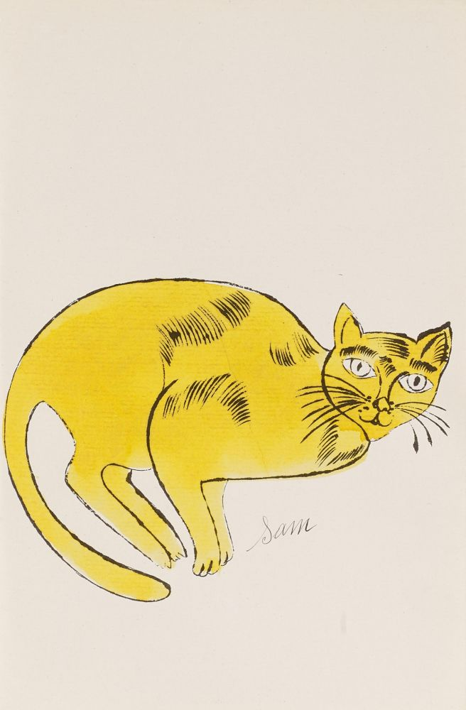 Lithograph Warhol - Sam (From 25 Cats named Sam and one blue Pussy, FS IV. 67A.)