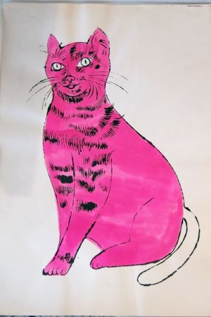Lithograph Warhol - Sam (pink with white tail)