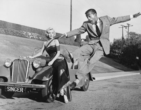 Photography Worth - Sammy Davis Jr leaps for Marilyn