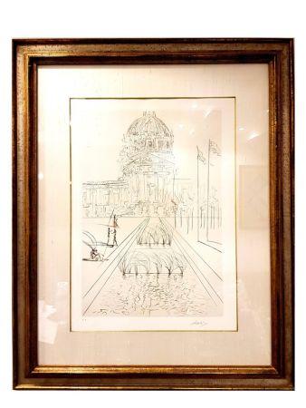 Lithograph Dali - San Francisco - Hôtel de Ville