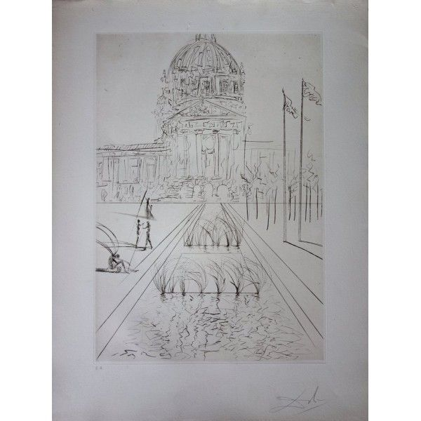 Etching Dali - San Francisco : City Hall