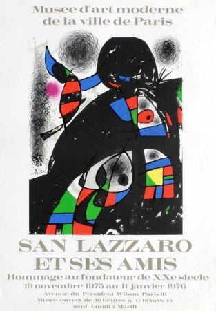 Poster Miró - SAN LAZZARO ET SES AMIS. Hommage. Affiche originale .1975.