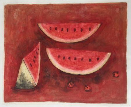 Lithograph Tamayo - Sandias