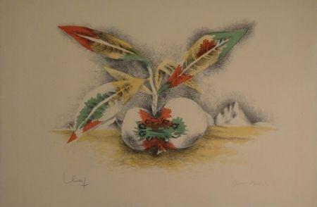 Lithograph Lurcat - Sang et Vie