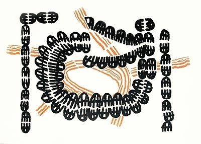 Lithograph Capogrossi - Sans