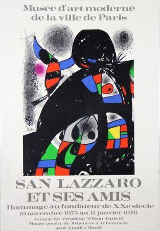 Lithograph Miró - Sans Lazzaro et ses Amis