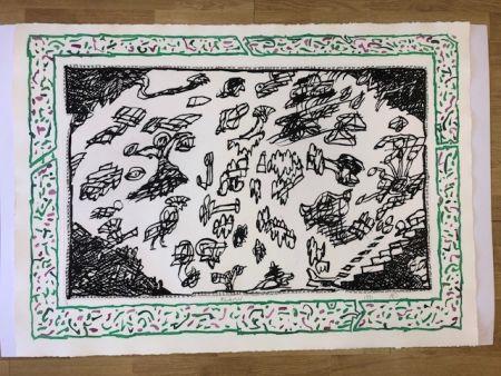 Lithograph Alechinsky - Sans l'ecorce