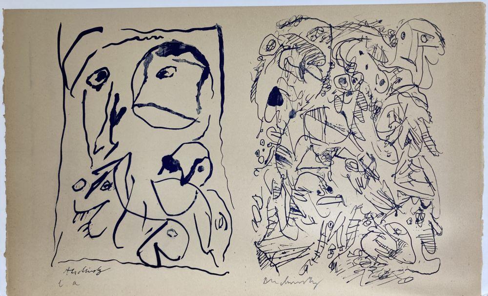 Lithograph Alechinsky - Sans titre.