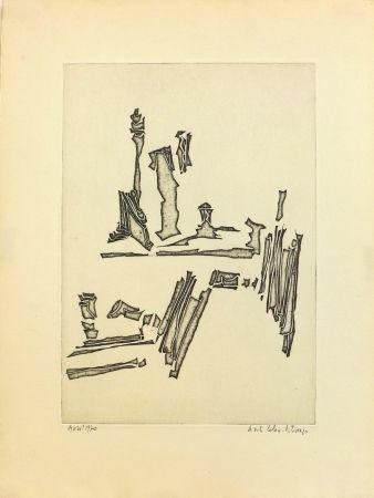 Engraving Celan Lestrange - Sans titre