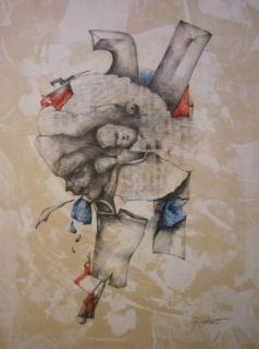 Lithograph Cuixart - Sans titre