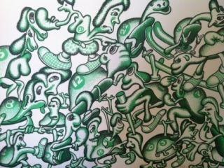 Lithograph Saul - Sans titre