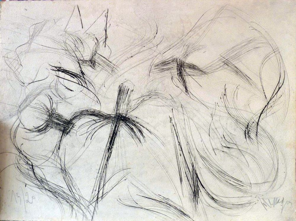 Lithograph Messagier - Sans titre