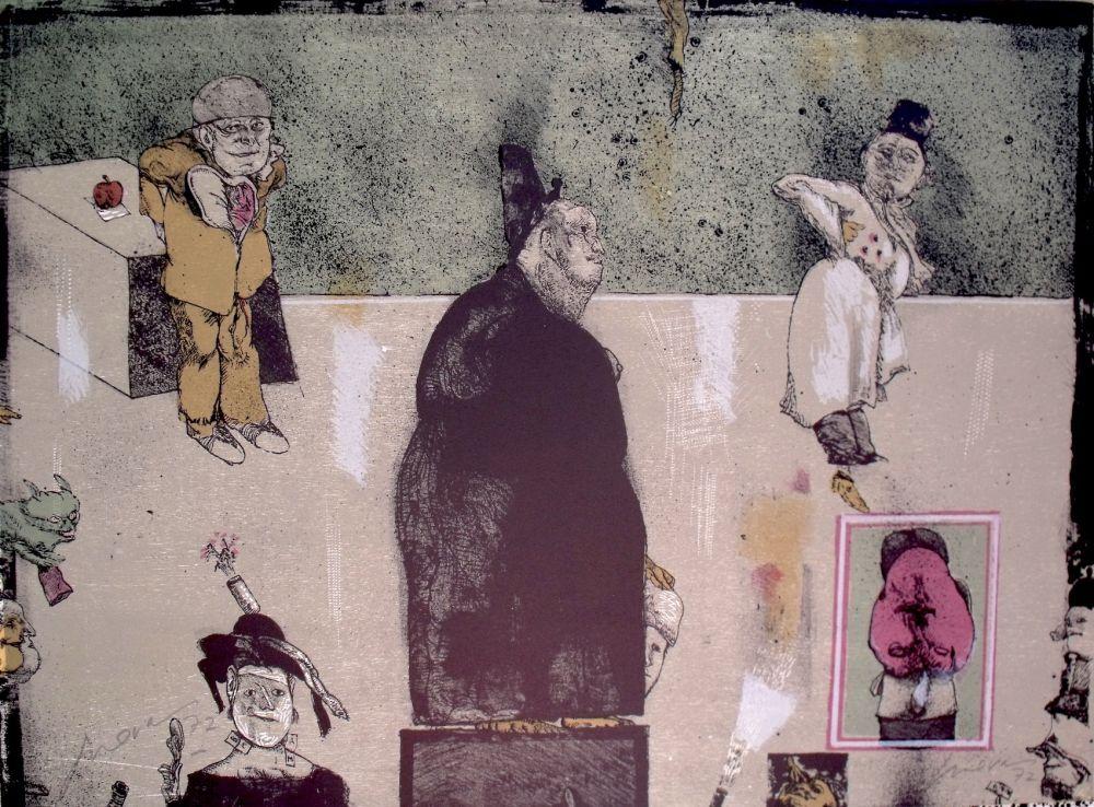 Lithograph Cuevas - Sans Titre