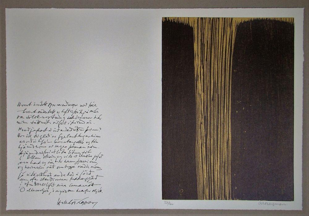 Woodcut Bergmann - Sans titre