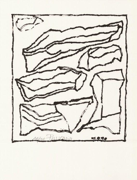 Lithograph Pincemin - Sans titre