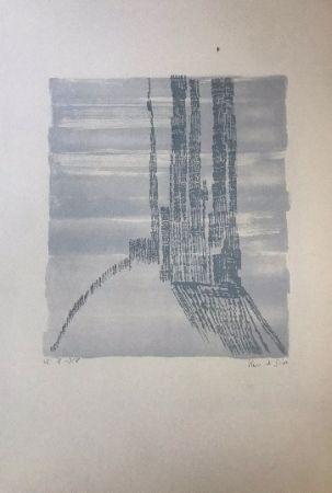 Lithograph Vieira Da Silva - Sans titre