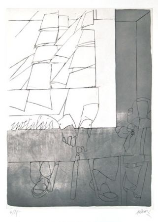 Etching And Aquatint Adami - Sans titre