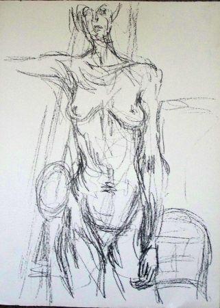 Lithograph Giacometti - Sans titre