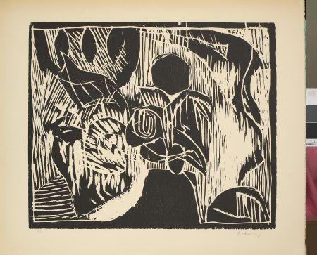 Woodcut Alechinsky - Sans titre