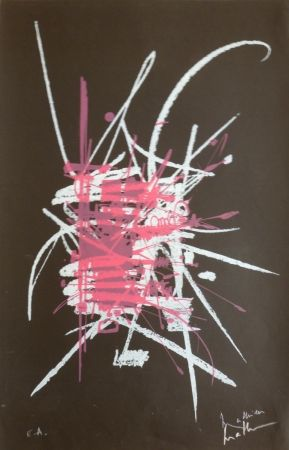 Lithograph Mathieu - Sans titre