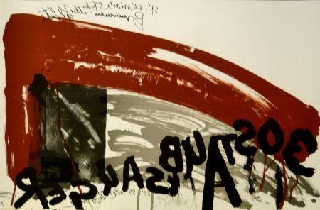 Lithograph Vostell - Sans titre