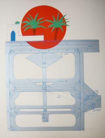 Lithograph Bertholo - Sans titre