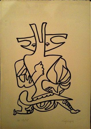 Lithograph Lapicque - Sans Titre