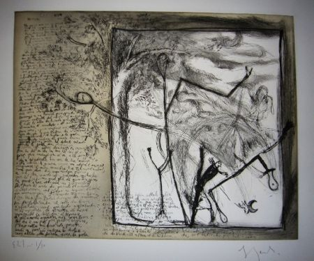 Etching And Aquatint Garouste - Sans titre
