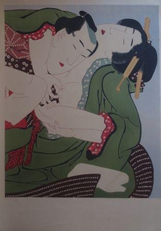Lithograph Utamaro - Sans titre