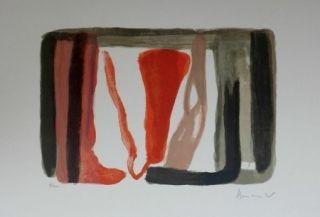 Lithograph Van Velde - Sans titre