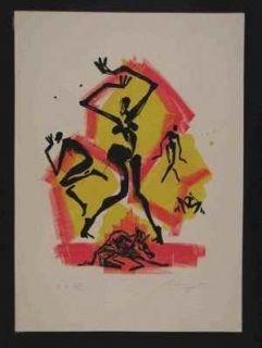 Lithograph Leiberg - Sans titre