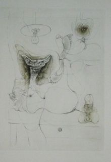 Etching And Aquatint Bellmer - Sans Titre