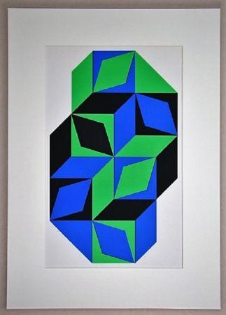 Screenprint Vasarely - Sans titre