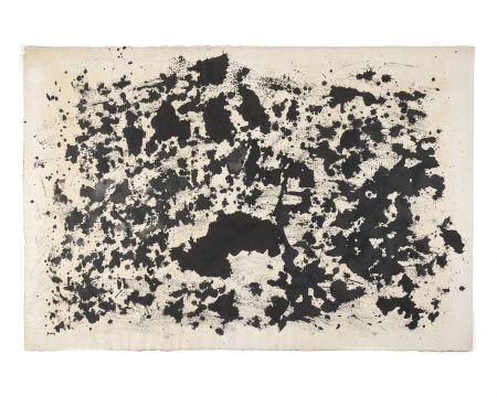 No Technical Michaux - Sans titre, 1978. Encre et huile, monogrammée.