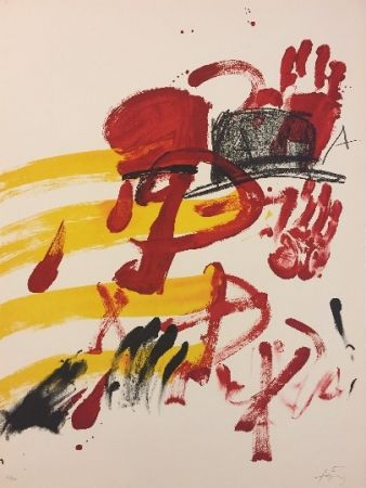 Lithograph Tàpies - Sans titre 2
