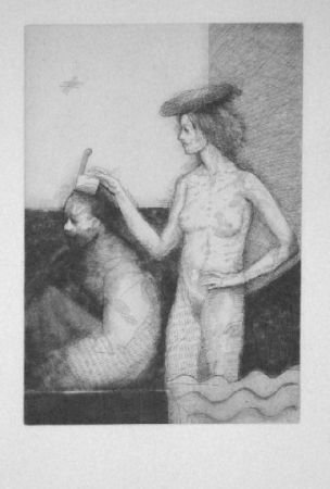 Etching And Aquatint Condé - Sans titre 2