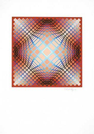 Lithograph Vasarely - Sans Titre 2