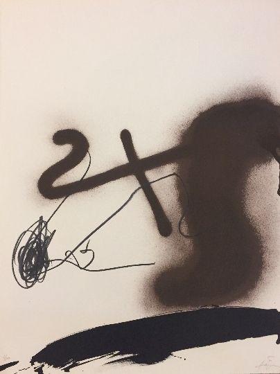 Lithograph Tàpies - Sans titre 3