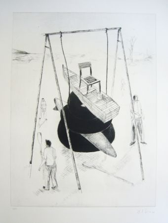 Etching And Aquatint Kcho - Sans titre 3