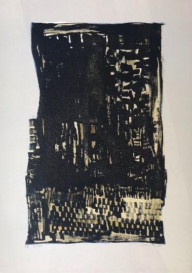 Lithograph Vieira Da Silva - Sans titre 8