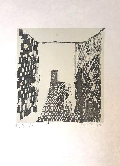 Lithograph Vieira Da Silva - Sans titre 9