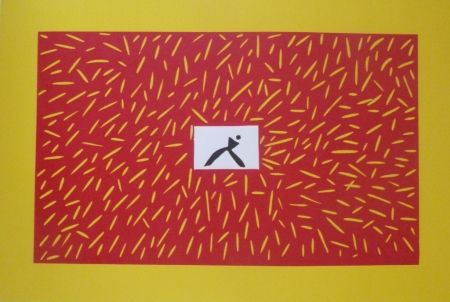 Linocut Kuroda - Sans Titre 9300