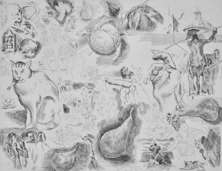 Engraving Cossé - Sans titre [Chat] (2e état)