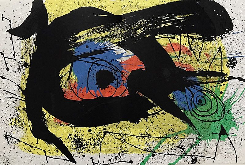 Lithograph Miró - Sans Titre I