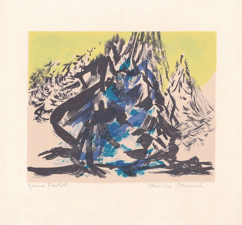 Lithograph Boumeester - Sans titre [Montagne]