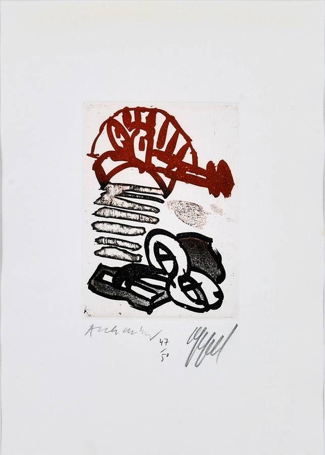 Engraving Alechinsky - Sans titre / Untitled