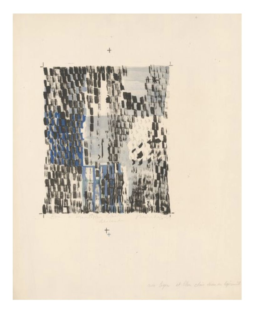 Lithograph Vieira Da Silva - Sans titre / Untitled