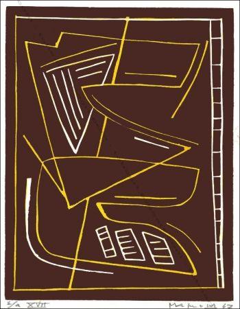 Linocut Magnelli - Sans Titre / Untitled.